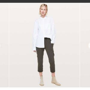 Lululemon Olive Green Crop Pant Size 6